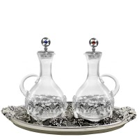 "CRUE SET WITH ANCIENT SILVER ""GRAPES"" DESIGN (Mod. S129)"