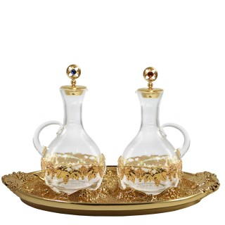 """CRUE SET WITH GOLDPLATED """"GRAPES"""" DESIGN (Mod. S131)"""