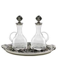 "CRUE SET WITH ANCIENT SILVER ""GRAPES"" DESIGN (Mod. S135)"
