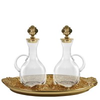 "CRUE SET WITH GOLDPLATED ""GRAPES"" DESIGN (Mod. S136)"