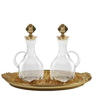 """CRUE SET WITH GOLDPLATED """"GRAPES"""" DESIGN (Mod. S136)"""