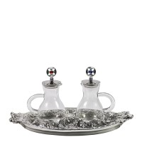 "CRUE SET WITH ANCIENT SILVER ""GRAPES"" DESIGN (Mod. S140)"