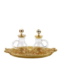 "CRUE SET WITH GOLDPLATED ""GRAPES"" DESIGN (Mod. S141)"