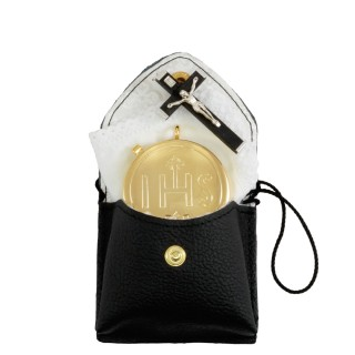 REAL LEATHER PYX CASE WITH NECK CORD
