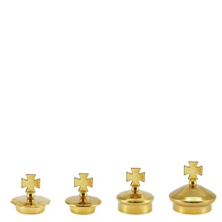 PAIR OF SPARE LIDS FOR GLASS CRUETS