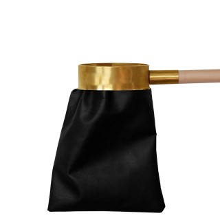 ARTIFICIAL BLACK LEATHER ALMS BAG WHIT HANDLE 1 MT
