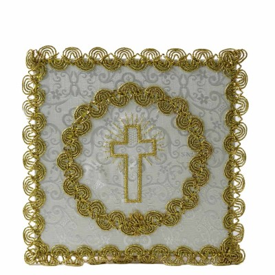 WHITE PALL CROSS EMBROIDERED