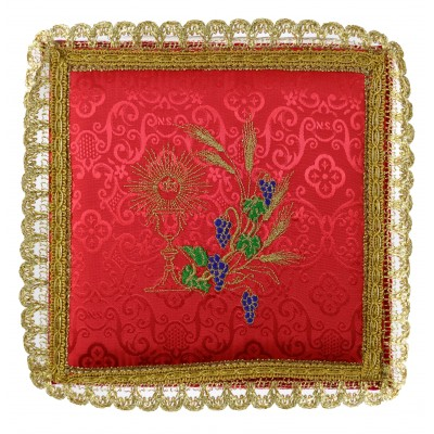 RED PALL EMBROIDERED