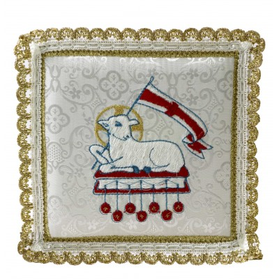 WHITE PALL EMBROIDERED LAMB
