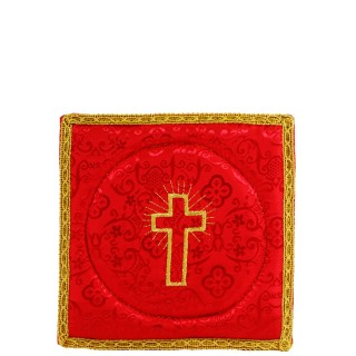 RED SATIN PALL EBROIDERED