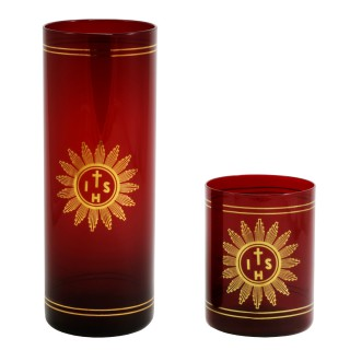 CANDLE RUBY GLASS TUMBLER